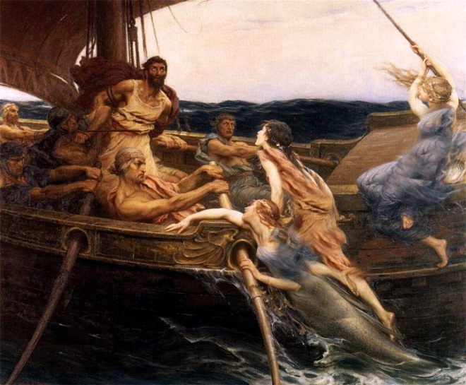 2.j-. sirens climb aboard even when tied to the mast- still see them
